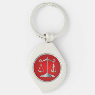 Scales of Justice | Law | Lawyer | Red Key Ring