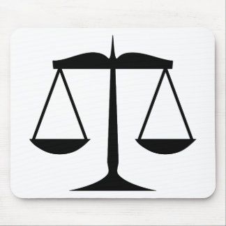 Scales of Justice (Law) Mouse Mat
