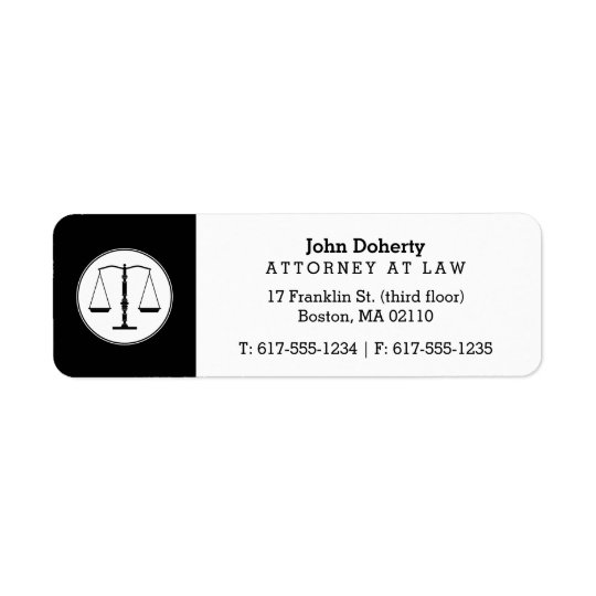 Scales of Justice | Law Office Return Address Label
