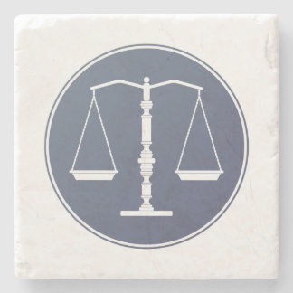 Scales of Justice   Lawer Gifts Stone Coaster