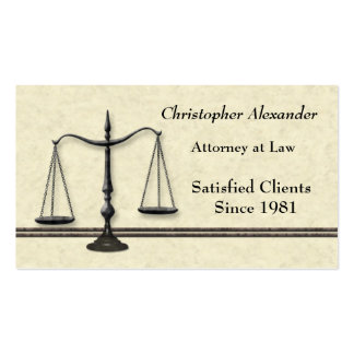 Scales of Justice Lawyer Business Card