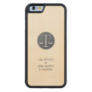 Scales of Justice | Lawyer Carved Maple iPhone 6 Bumper Case