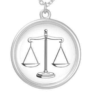 Scales of Justice | Lawyer Silver Plated Necklace