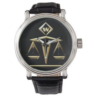 Scales of Justice - Monogrammed (v1) Wristwatches