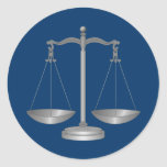 Scales of Justice Round Stickers
