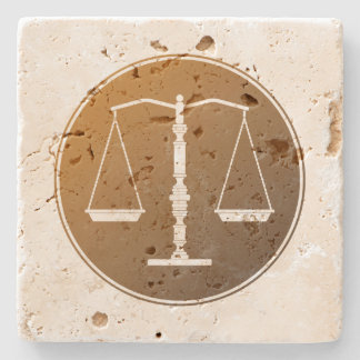 Scales of Justice Stone Coaster