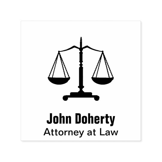 Scales of Justice Symbol   Personalizable Self-inking Stamp
