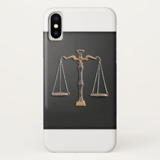 Scales of Justice - Vintage, Black and White iPhone X Case