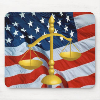 SCALES OF LAW AND JUSTICE MOUSE MAT