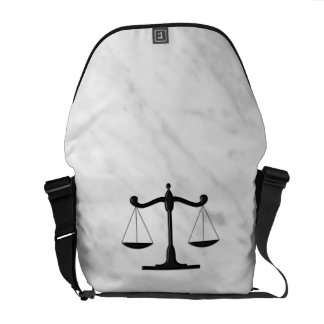 Scales on Marble Messenger Bag