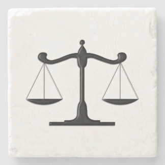 Scales on Marble Stone Coaster