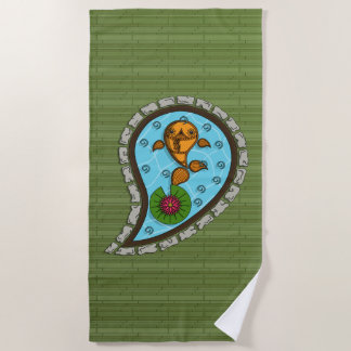 Scales the Goldfish Beach Towel