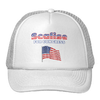 Scalise for Congress Patriotic American Flag Mesh Hat
