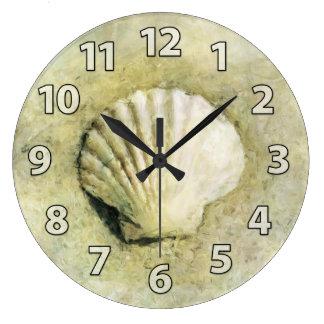 Scallop Sea Shell Art Clock
