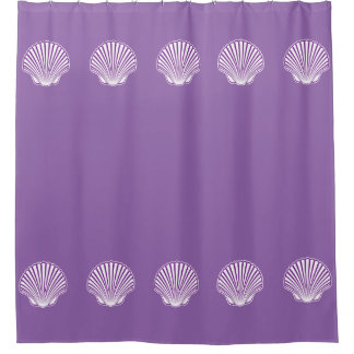 Scallop Seashell Design Shower Curtain