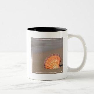 Scallop Shell| Crete, Greece Two-Tone Coffee Mug