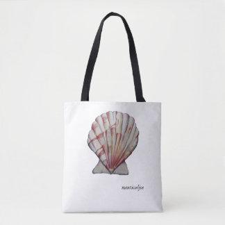 scallop shell tote bag