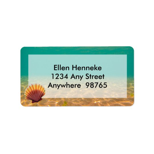 Scallop Shells Address Label