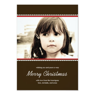 Scalloped Frame Holiday Photo Cards - Red - 13 Cm X 18 Cm Invitation Card
