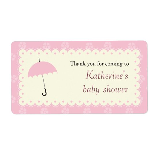 Scalloped Lace Baby Shower Label Shipping Label
