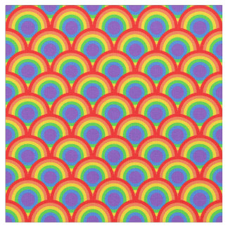 Scalloped Rainbow Scales Pattern Design Fabric