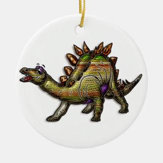 Scaly Rainbow Diosaur Christmas Ornament