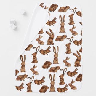 Scampering Rabbits Baby Blanket
