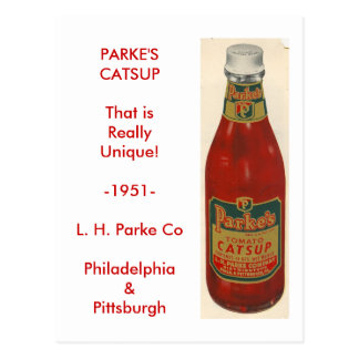 scan0001, PARKE'S CATSUP Postcard