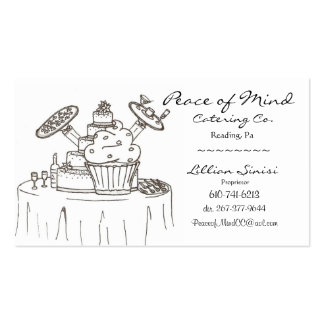 scan0003, Peace of Mind, Catering Co., Lillian ... Double-Sided Standard Business Cards (Pack Of 100)