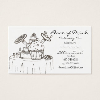 scan0003, Peace of Mind, Catering Co., Lillian ... Business Card