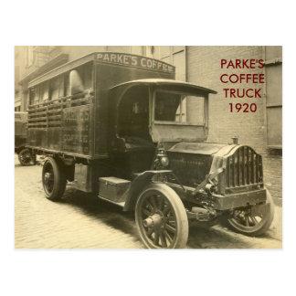 scan0009, PARKE'S COFFEE1920 Postcard