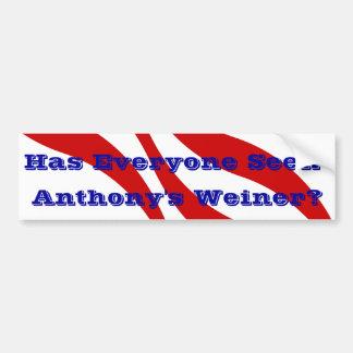 Scandal Bumper Sticker Anthony Weiner Behavior