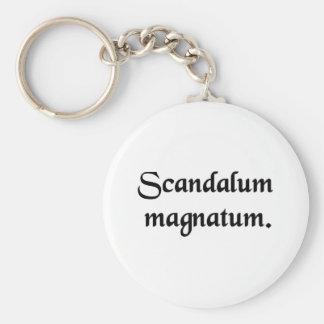 Scandal of magnates. basic round button key ring