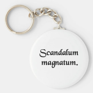 Scandal of magnates. key chain