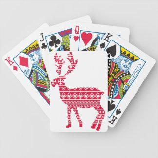 Scandi reindeer bicycle playing cards