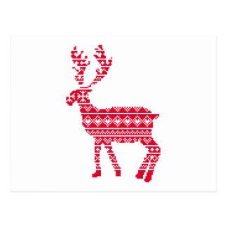Scandi reindeer postcard