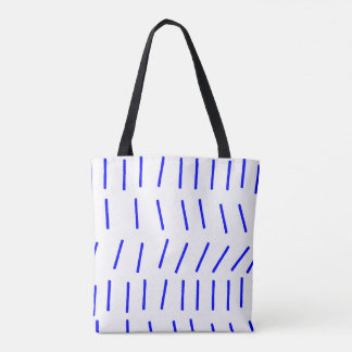 Scandi Stroke Blue Tote Bag