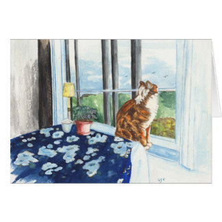 Scandia Cat Greeting Card