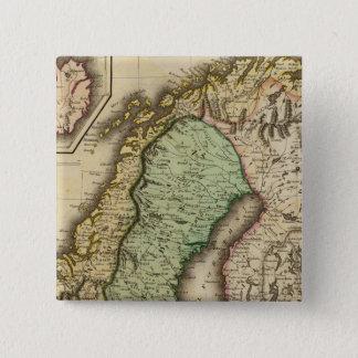 Scandinavia 3 15 cm square badge