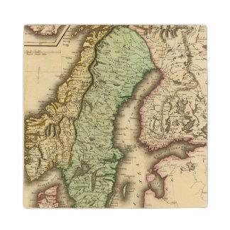 Scandinavia 3 wood coaster