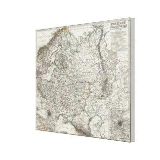 Scandinavia and Russia Canvas Print