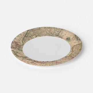 Scandinavia, Baltic Sea, Sweden, Denmark Paper Plate