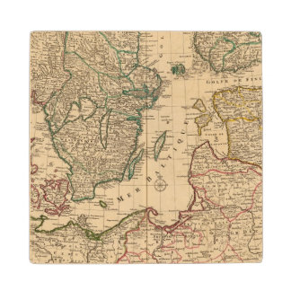 Scandinavia, Baltic Sea, Sweden, Denmark Wood Coaster