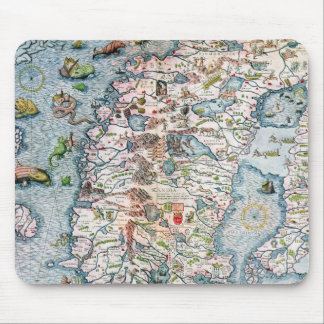 Scandinavia, detail from the Carta Marina Mouse Mat