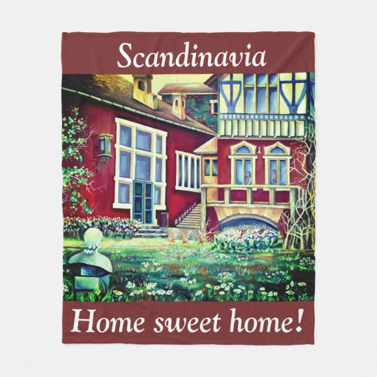 Scandinavia, home sweet home! fleece blanket