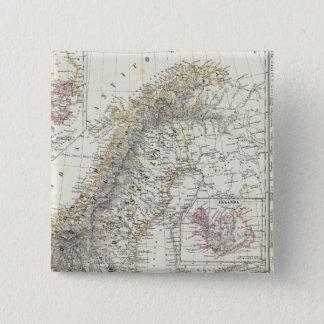 Scandinavia, Sweden, Norway 15 Cm Square Badge