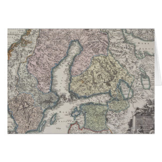 Scandinavian Antique Map Card