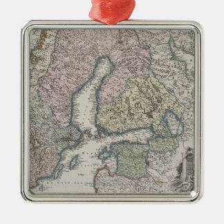 Scandinavian Antique Map Christmas Ornament