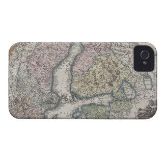 Scandinavian Antique Map iPhone 4 Case-Mate Cases
