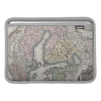Scandinavian Antique Map MacBook Sleeve